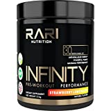 RARI Nutrition - INFINITY 100% Natural Pre Workout Powder for Energy, Focus, and Performance - No Creatine - No Artificial Flavors or Colors - Vegan and Keto - 30 Servings - Strawberry Lemonade