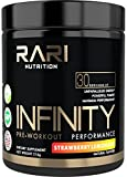 RARI Nutrition - INFINITY 100% Natural Pre Workout Powder for Energy, Focus, and Performance - No Creatine – No Artificial Flavors or Colors - Vegan Friendly - 30 Servings - Strawberry Lemonade