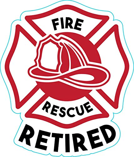WickedGoodz Fire and Rescue Vinyl Decal - Retired Bumper Sticker - Perfect Firefighter Gift