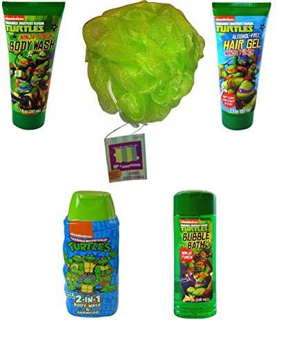 nickelodeons-teenage-mutant-ninja-turtle-bath-body-bundle-5-items-with-bonus-bath-sponge-green