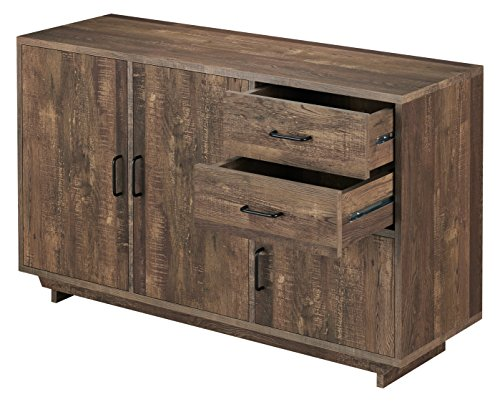 HOMES: Inside + Out FGI-17701C25 Walden Buffet - Finish: Reclaimed oak Material: MDF, veneer Rustic style - sideboards-buffets, kitchen-dining-room-furniture, kitchen-dining-room - 51Fk8KcLJjL -