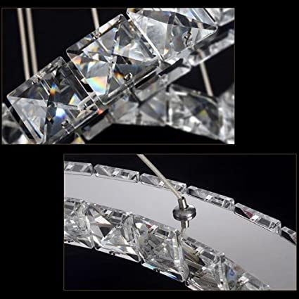 LightInTheBox LED K9 Crystal Chandelier Lighting Lamps Transparent Round 3 Rings Light Fixture 110-120V Cold White