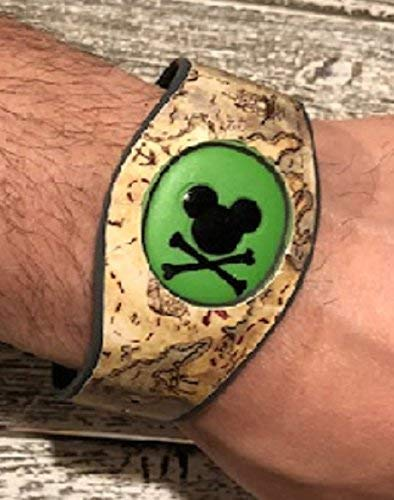 Vinyl Skin Decal Wrap Sticker Cover for The MagicBand 2 | Magic Band 2.0 Pirates of the Caribbean]()