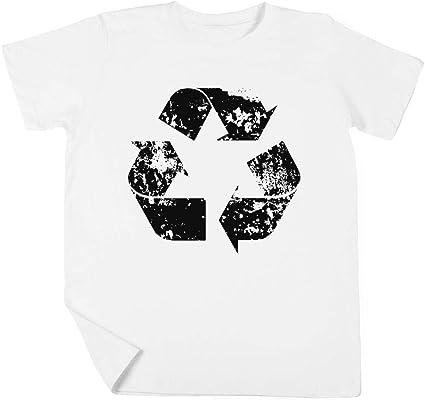 Reciclar Niño Niña Unisexo Blanco Camiseta Manga Corta Kids ...
