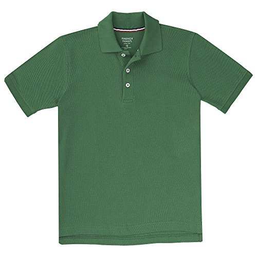 (French Toast Boys' Big Short Sleeve Pique Polo Shirt (Standard & Husky), Kelly Green, XXL)