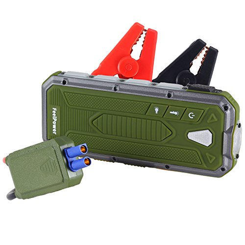 Fuel Power Booster (Car Jump Starter, RYX 400A Peak Portable (up to 3.0L Gas or 2.5L Diesel Engine) Auto Battery Booster Power Pack Phone Power Bank with smart ports Car Safety Hammer LED Flashlight & Smart Protection)