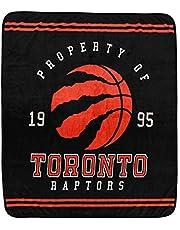 Nemcor NBA Toronto Raptors Soft Luxury Throw Blanket for Basketball Sports Fan, Black (60x70)