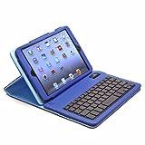 Aduro FACIO Case with Bluetooth Removable Keyboard for Apple iPad Mini (Blue/Turquoise)