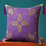HOMEE Bohemian Style Fine Pure Color Embroidery Embroidery, Multi-Colored Optional Pillow Pillow ,5050, Yellow Green,Purple,5050
