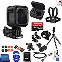 Gopro Hero 5 Session 15 Piece Hooked Bundle Includes: Go Pro Hero5 Session + Case + Flexible Tripod + Chest Strap + Glove Mount + More