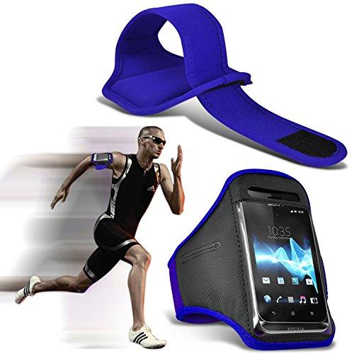 hülle Tasche (Grau) Wiko Lenny 2 hülle Tasche (Abmessungen 7,3 x 0,9 x 14,5 cm) Kasten hülle Tasche (PU) Leder-Gürtelclip-Beutel-Kasten-Schlag-Abdeckung Holster mit Magnet + Auto-Ladegerät Mit dem i-T Armband (Blue)