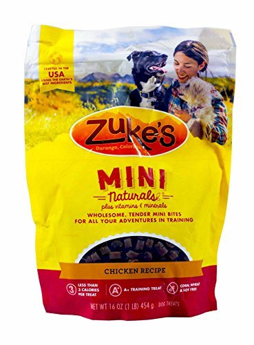 Zuke's Mini Naturals Dog Treats, Chicken 16oz (Pack of 3)