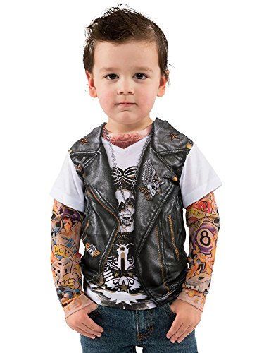Toddler Biker Tattoo Costume Shirt (Kids Biker Costume)