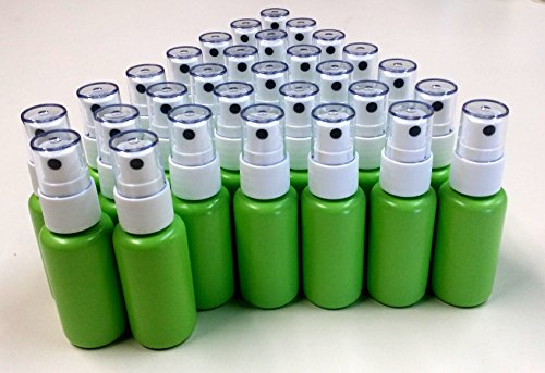 Empty (1.25 oz) BPA Free Refillable Green Plastic Fine Mist Spray Bottle (30-PACK) by Ozone Layer Products (Image #4)