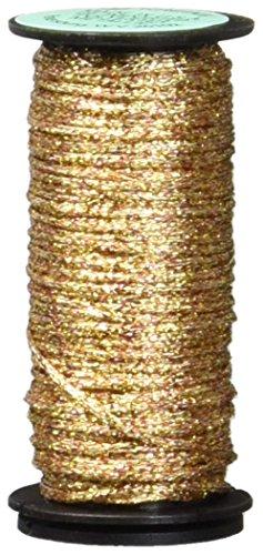 Kreinik No.16 10m Metallic Braid Trim, Medium, Antique Gold - Gold Metallic Braid