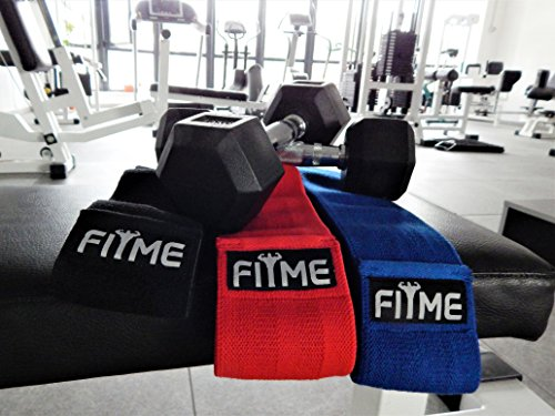 FITME Premium Exercise Resistance Workout Bands with Grip (Pack of 3 Sizes) - Exercise Guide and Carry Bag Included by FITME Sports (Image #6)