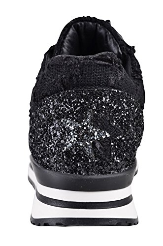 Gold 2Star Shoes Women's Black Silver Beaded Sneaker 36 qcmoy