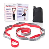Sport2People Dance Stretching Straps - Also for Tall People - Recommended by Physiotherapists - Deepen Your Stretches Safely with Yoga Belt - Easy to Clean - Carry Bag & Workout Instruction Included