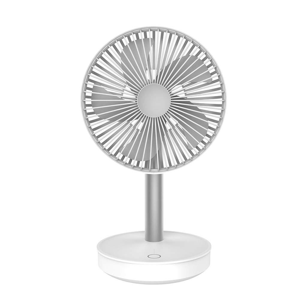 LEERYAAY P19 Portable Compact Home Desktop USB Charging Ultra Quiet Speed Adjustable Fan White