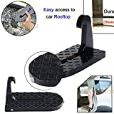 Automotive : ZAIXU Folding Car Doorstep Vehicle Hooked on U Shaped Slam Latch Safety Hammer Function for Easy Access to Rooftop Roof-Rack Vehicle Door Step Up Pedal for Car Jeep SUV (Ship From US)