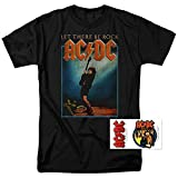 Popfunk ACDC Let There Be Rock Album T Shirt & Exclusive Stickers (Medium)