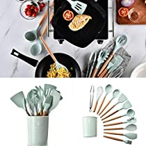 Zippem Durable Practical Heat Resistant Silicone Kitchenware Kitchen Tool Cookware Sets