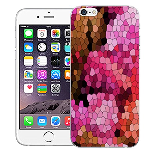 """Mobile Case Mate iPhone 6S 4.7"""" Silicone Coque couverture case cover Pare-chocs + STYLET - Pink Mozaic pattern (SILICON)"""