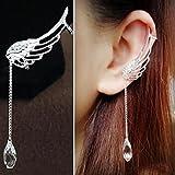 #6: Hearts Shop Charm Elegant Angel Wing Crystal Earrings Drop Dangle Ear Stud Cuff Clip