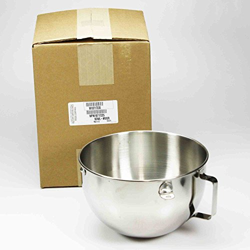 Whirlpool W10717235 Stand Mixer Bowl, 5-qt (Stainless) Genuine Original Equipment Manufacturer (OEM) Part Stainless