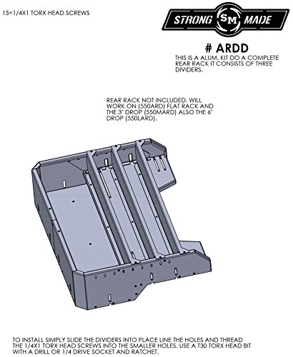 Divider Kit For ARD Rear Racks by Strong Made ARDD by Strong Made