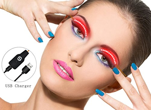 LED Eyelashes, UtechSmart Waterproof Rechargeable Interactive Shining Charming F.Lashes with USB Charge for Holiday Halloween Christmas Birthday Party