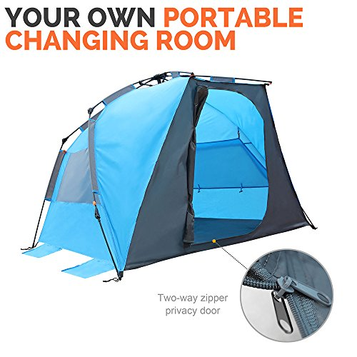 half off 2955d 2a6bf OutdoorMaster Pop Up Beach Tent - Easy to Set Up, Portable ...
