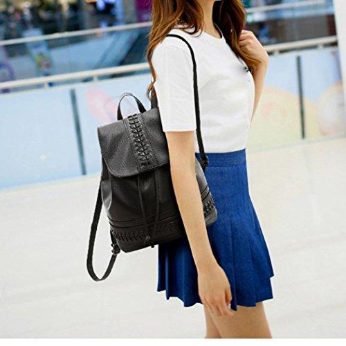 Womens Black Soft Bags Schoolbag Student 2018 Leisure Black Travel Softback Womens Backpack Pocciol COgnwqFa