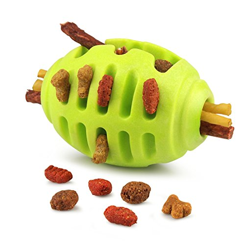 Fluffy Paws Pet Treat Toy, Rugby Rubber Pet Toy, IQ Treat Ch