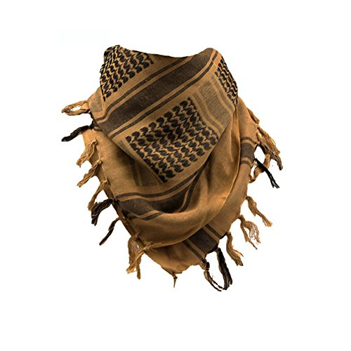 AegisTac Military Shemagh Neck Scarf Desert Tactical Style Head Wrap Keffiyeh Checkered Scarf Arab Scarves 100% Cotton for Men & Women (Desert Tactical Gear)