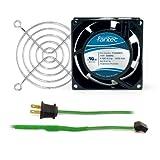 Gardtec GCAB700 80 mm Cabinet Cooling Fan Kit, Fan/Cord/Wire Guard 120V