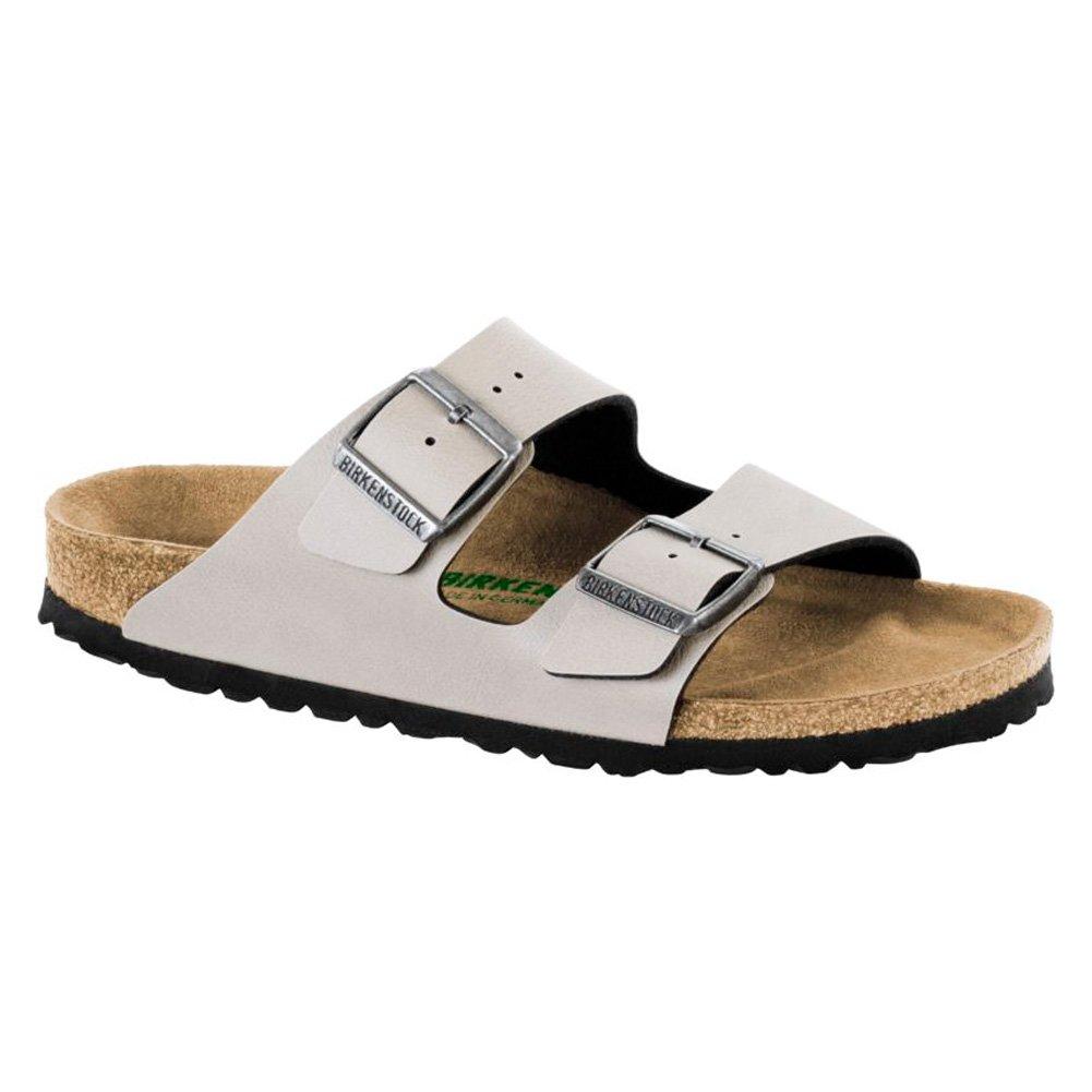 Birkenstock Women's Arizona Vegan Sandals B074S6SLKQ 41 Narrow EU Vegan Stone Pull Up Birko-flor