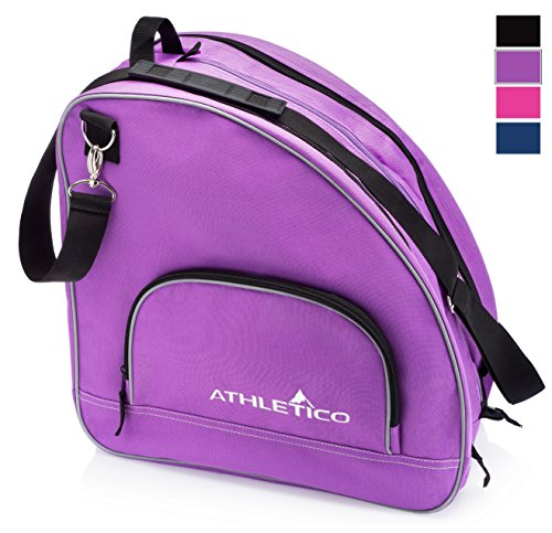 Athletico Ice & Inline Skate Bag - Premium Bag to Carry Ice Skates, Roller Skates, Inline Skates for Both Kids and Adults (Purple with Black Trim)