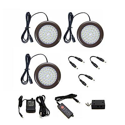 Lightkiwi H4294 3.5 inch Warm White LED Puck Lights - Premium Kit (3 Pack)