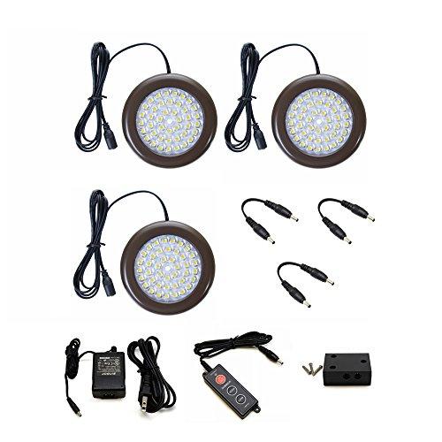 Lightkiwi H4294 3.5 inch Warm White LED Puck Lights - Premium Kit (3 Pack) ()