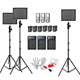 Aputure Amaran HR672KIT( HR672S * 2 + HR672W ) CRI95+ LED Video Studio Lighting Kit with 6600mAh Lithium Batteries, 2.4G Wireless Remote Control and 6.5ft Light Stand