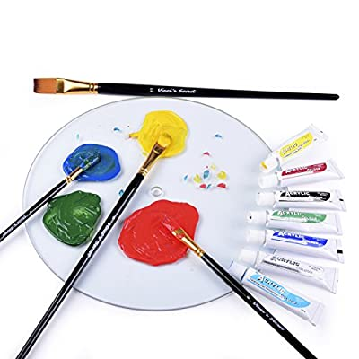 PROFESSIONAL ARTIST PAINT BRUSH SETS - Wide Variety 15 Piece Paintbrush Kits For Acrylic, Oil, Watercolor and Face Painting - Canvas Quality Art Supplies Kit for Artists and Kids - 100% MONEY BACK GUARANTEE!