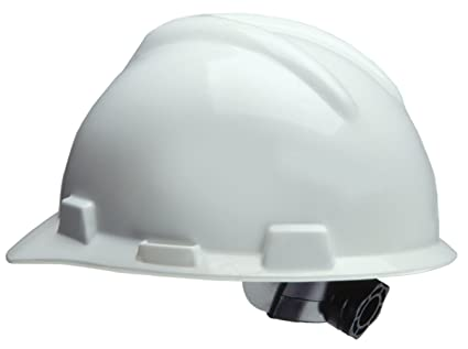 MSA Safety Works 818064 - Casco de obra, color blanco