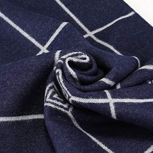 Rayé Pour Hiver Coton Treillis Hommes Écharpe Rhombe 180cm Automne Écharpes Bleu Amdxd 4a0qtxw