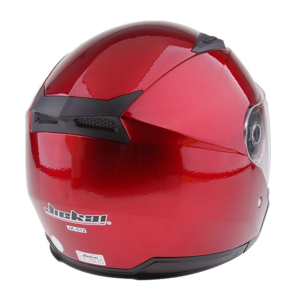 Bianco XXL Homyl Casco Aperto 3//4 Modulare Ribaltabile Antigraffio Accessorio Moto Scooter