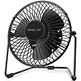 Appliances : OPOLAR 5-Inch USB Desk Fan, Portable Mini Personal Fan with Two Speed-Settings, Super Quiet, Metal Design, 360° Up and Down, Perfect for Home, Office