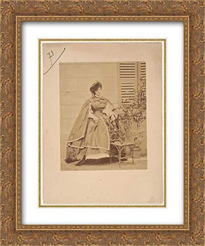 Pierre-Louis Pierson - 20x24 Gold Ornate Frame and Double Matted Museum Art Print - La Robe de taffetas ()