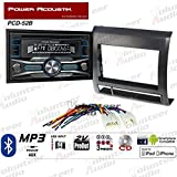 Volunteer Audio Power Acoustik PCD-52B Double Din Radio Install Kit with Bluetooth, CD Player, USB/AUX Fits 2005-2011 Non Amplified Toyota Tacoma (Black Textured)