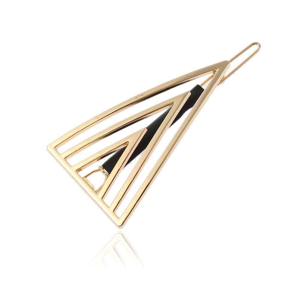 Yazilind Simple Design Metal Alliage Pinces /À Cheveux Pinces Set Femmes Barrettes De Cheveux Accessoires G/éom/étrique Triangle Forme /Épingles /À Cheveux pour Les Filles
