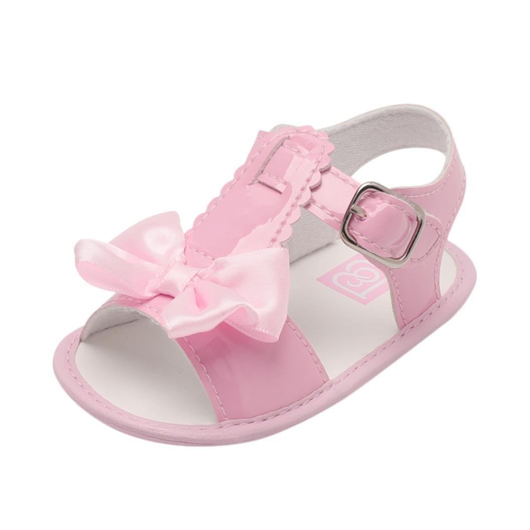 beafddd06ab Para niñas Rosado, Tamaño:12- Sandalias de Bebé ❤ Amlaiworld Verano  Infantil Bebé Niña Bowknot Cuna Zapatos ...